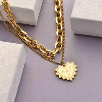 Collares de Acero Inoxidable para Mujer al por Mayor -SSNEG142-33760