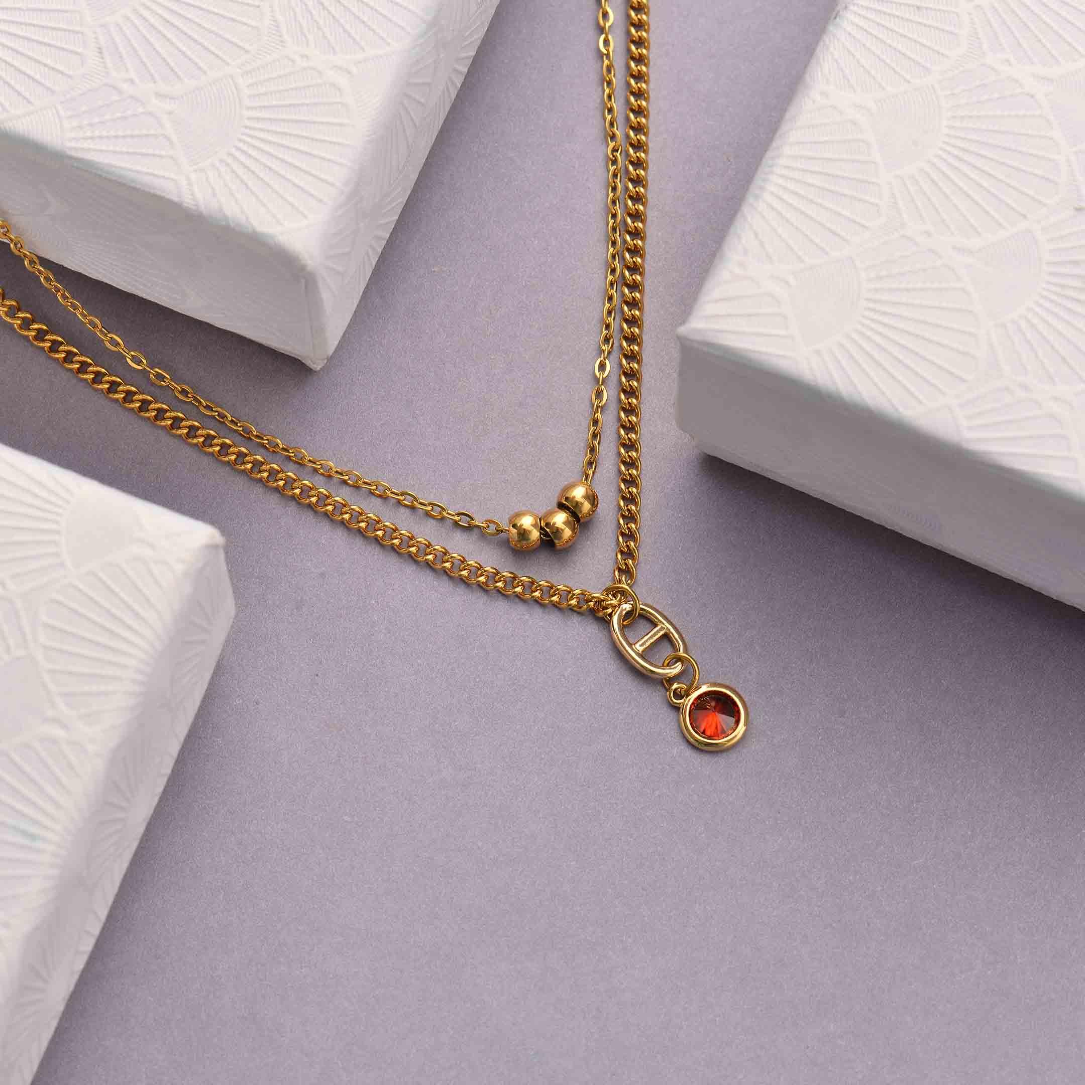 Collares de Acero Inoxidable para Mujer al por Mayor -SSNEG142-33804