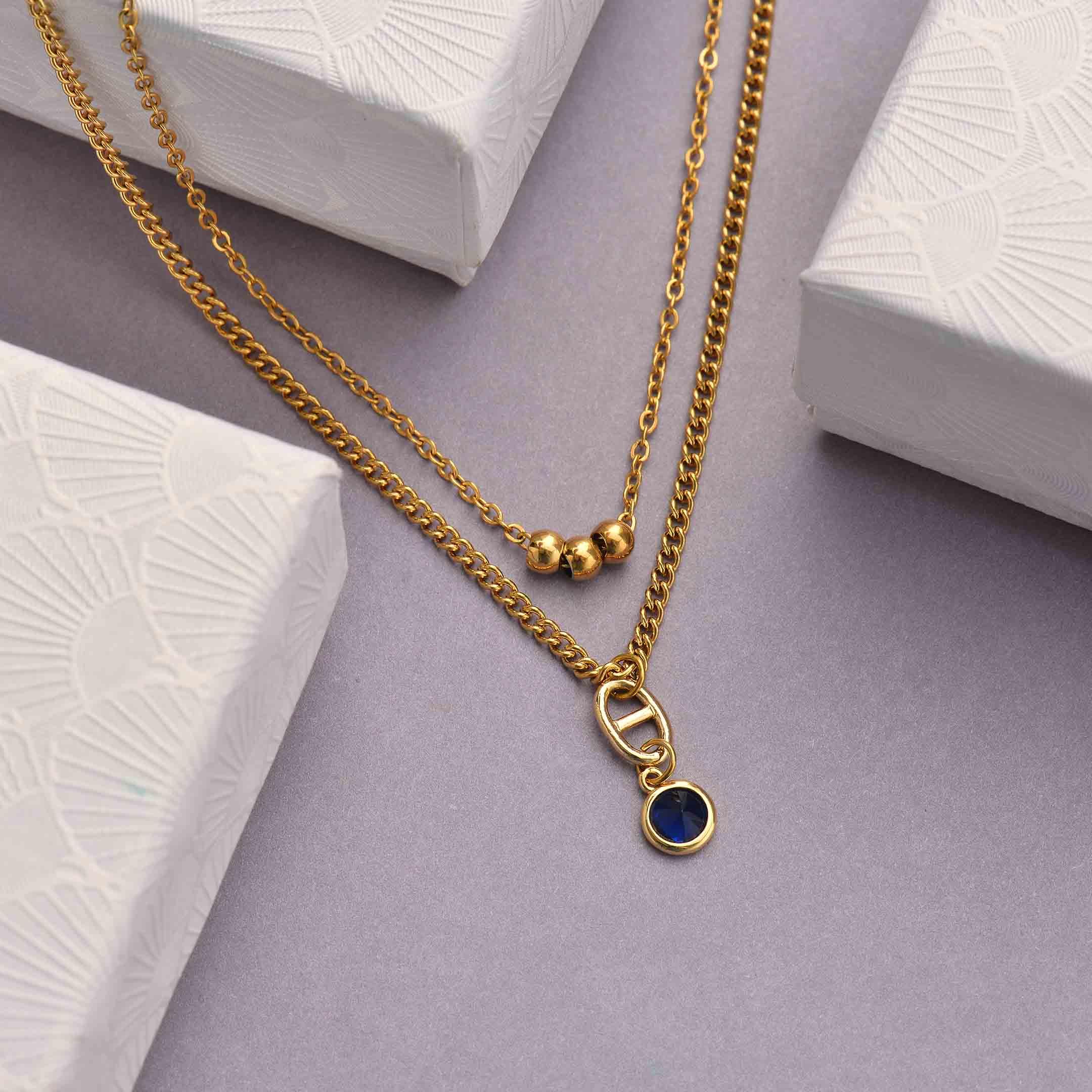 Collares de Acero Inoxidable para Mujer al por Mayor -SSNEG142-33811