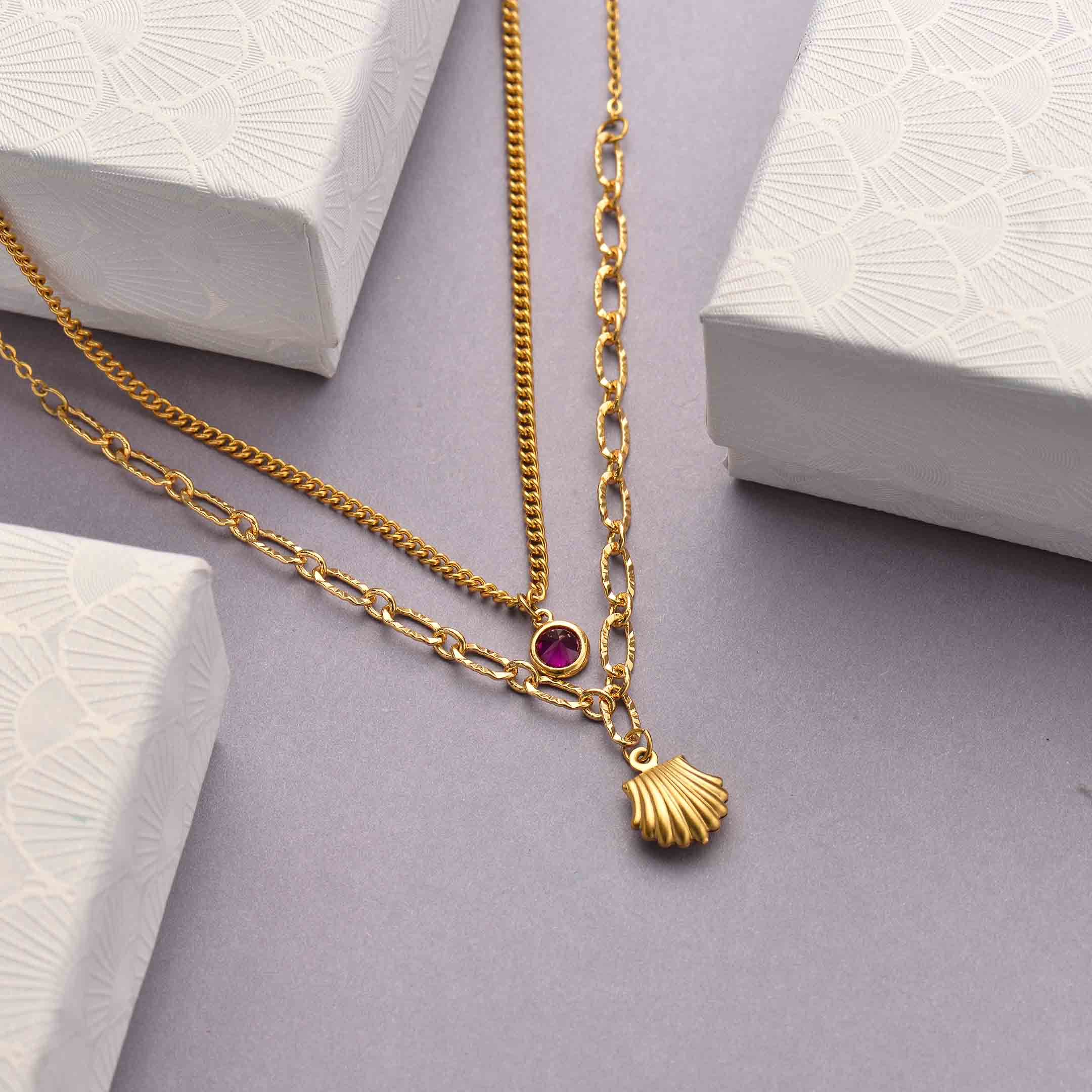 Collares de Acero Inoxidable para Mujer al por Mayor -SSNEG142-33802