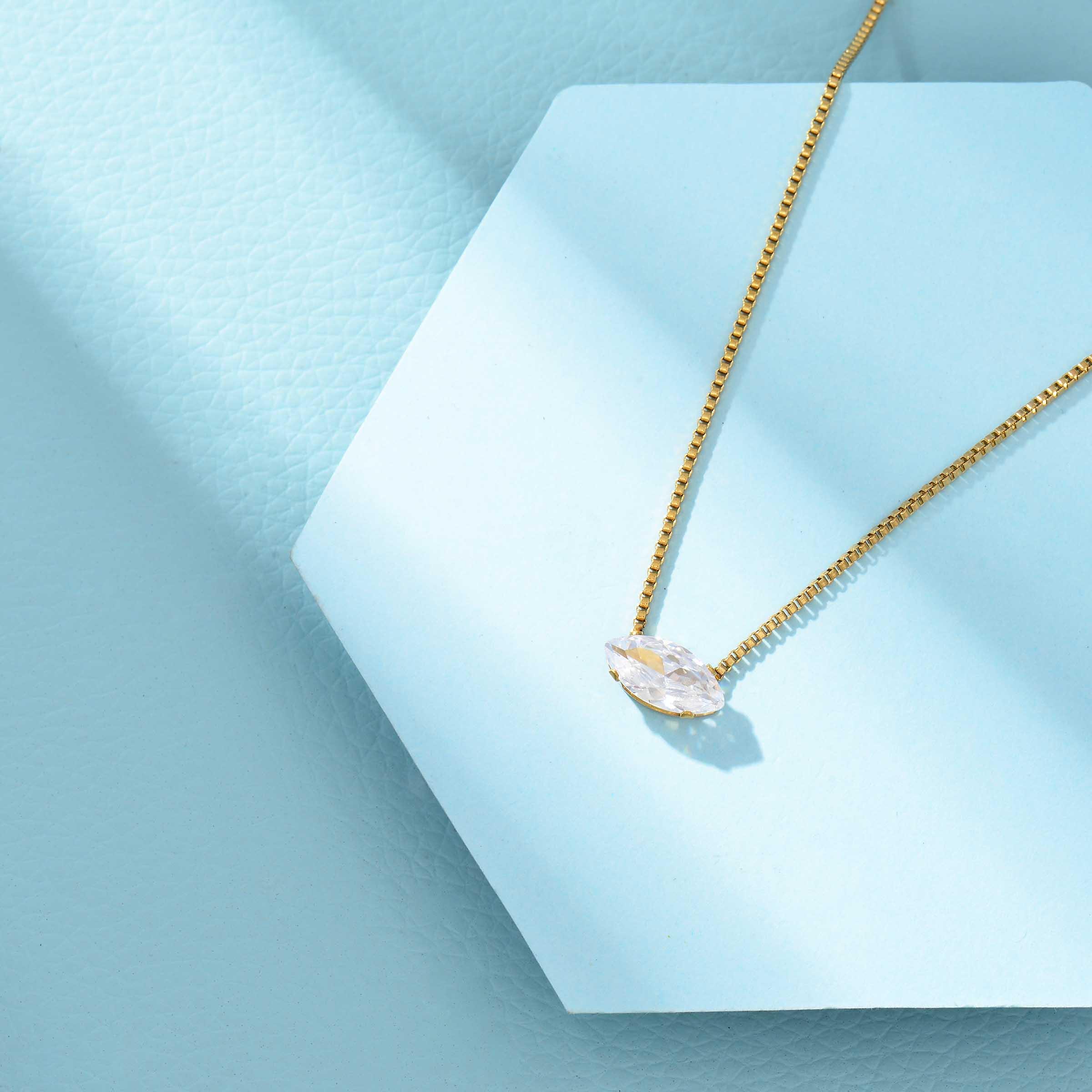Collares de Acero Inoxidable para Mujer al por Mayor -SSNEG143-33863