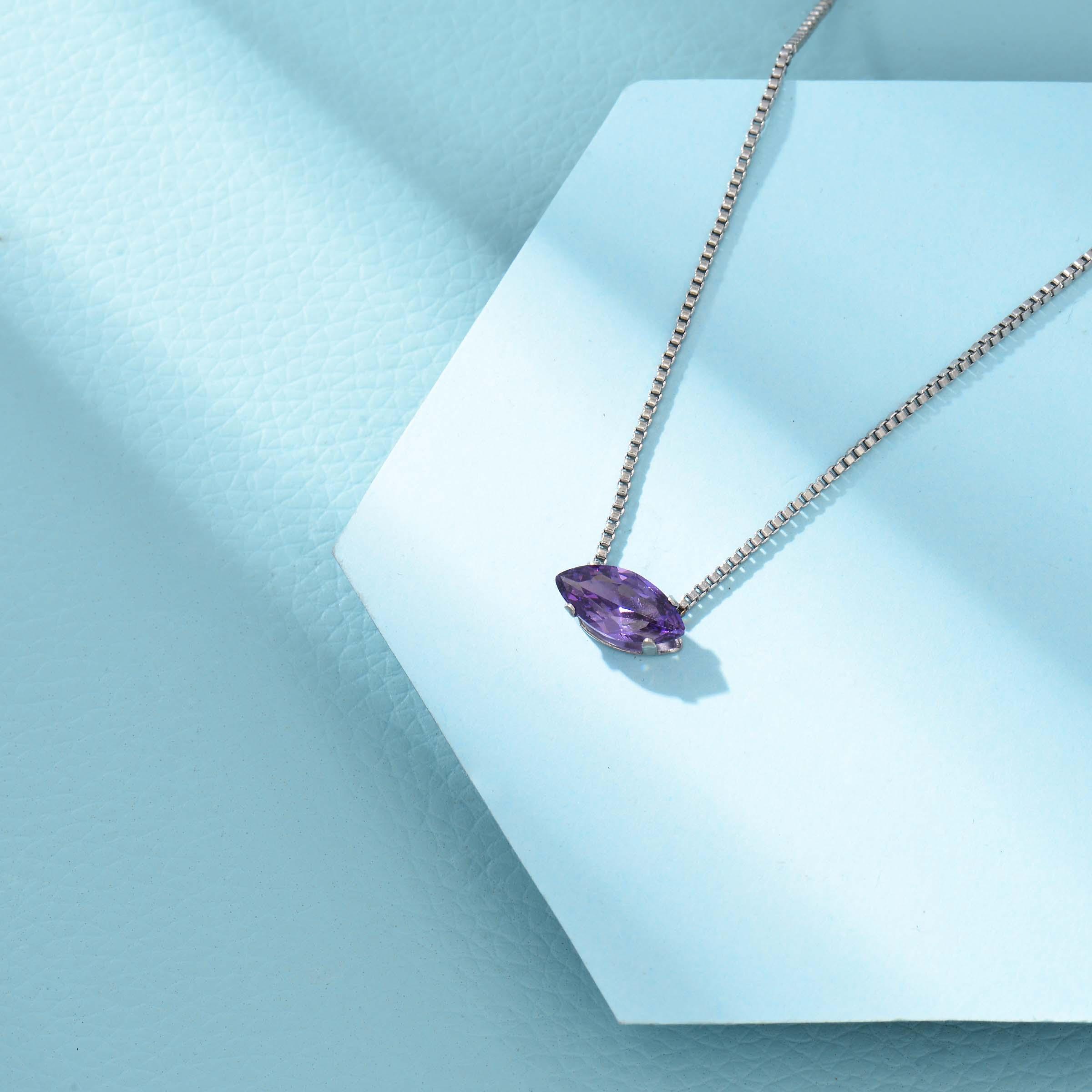 Collares de Acero Inoxidable para Mujer al por Mayor -SSNEG143-33854