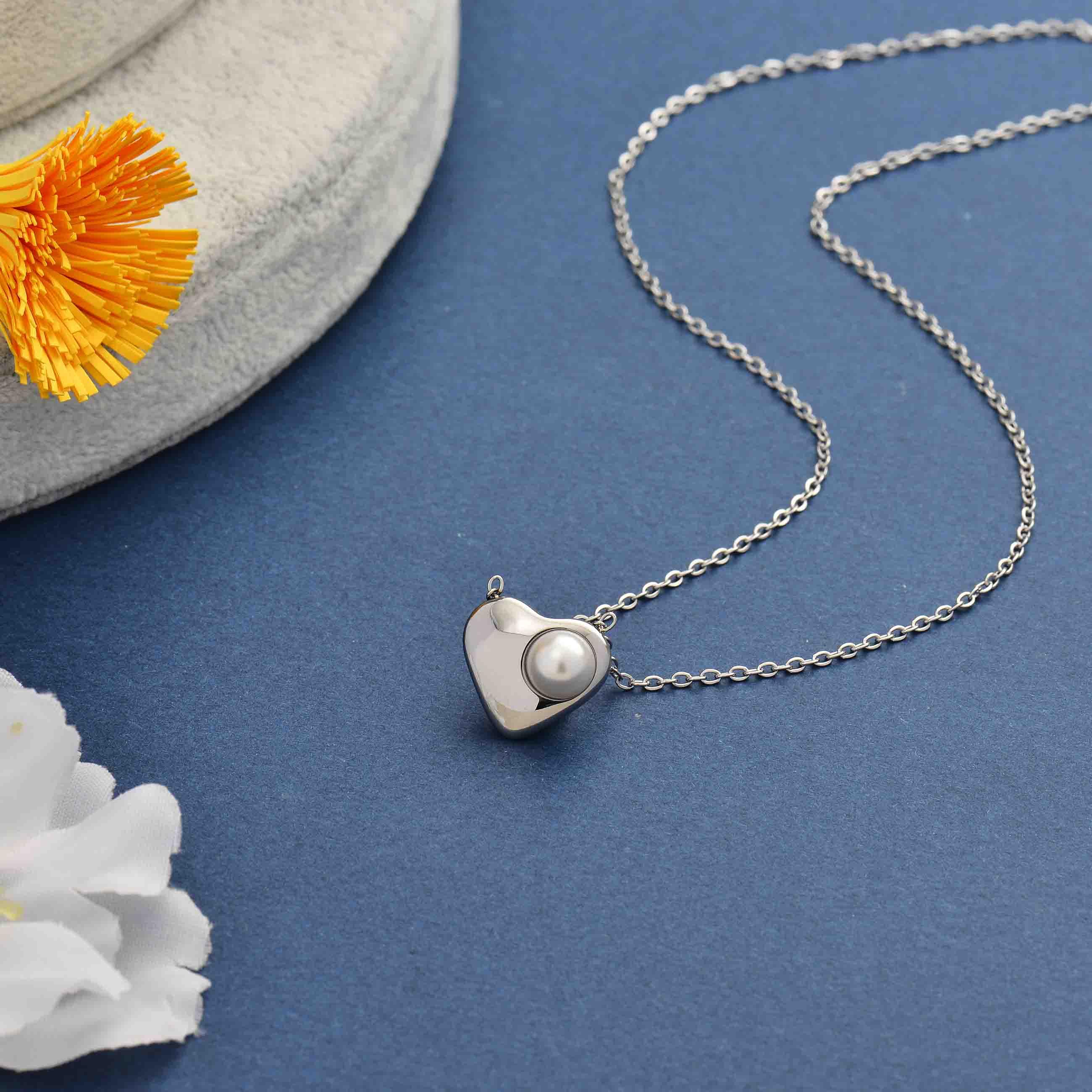 Collares de Acero Inoxidable para Mujer al por Mayor -SSNEG143-34364