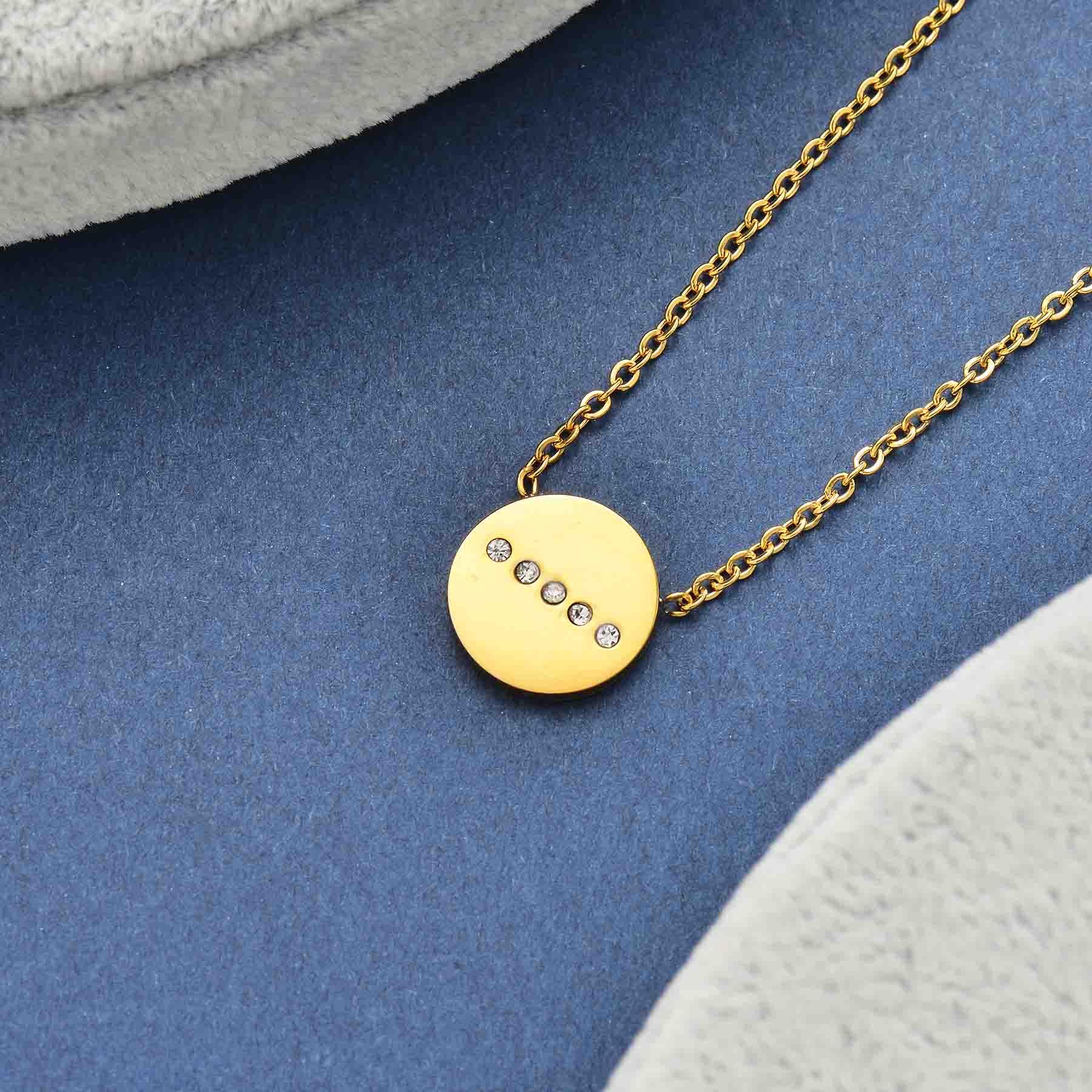 Collares de Acero Inoxidable para Mujer al por Mayor -SSNEG143-34644