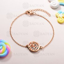 Pulsera de Charms Multi Color en Acero Inoxidable -SSBTG143-10938
