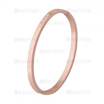 pulsera simple rosado en acero inoxidable -SSBTG1225527