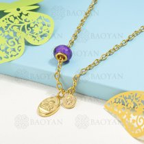 collar de charms en acero inoxidable -SSNEG142-16219