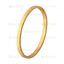 pulsera simple dorado en acero inoxidable -SSBTG1225530