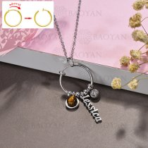 collar de DIY en acero inoxidable -SSNEG143-15522