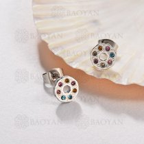 Aretes Multi Color en Acero Inoxidable -SSEGG143-9575