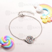 Pulsera de Charms Multi Color en Acero Inoxidable -SSBTG143-10937