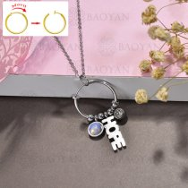 collar de DIY en acero inoxidable -SSNEG143-15521
