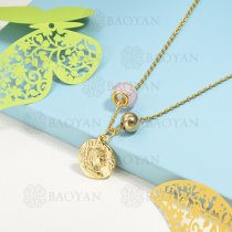 collar de charms en acero inoxidable -SSNEG142-16221