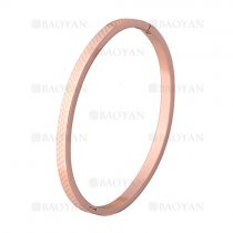 pulsera simple rosado en acero inoxidable -SSBTG1225531