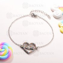 Pulsera de Charms Multi Color en Acero Inoxidable -SSBTG143-10935