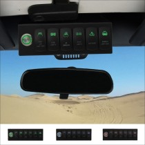 6 Switch Control System for Jeep Wrangler JK 07-18 Green Backlight