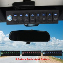 8 Switch Control System for Jeep Wrangler JK Blue Backlight