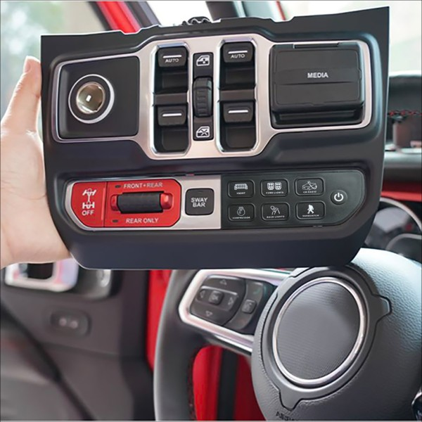 Voswitch JL300 Lower Dash Switch Panel for Jeep Wrangler JL 2018-Current and Gladiator 2020- Current