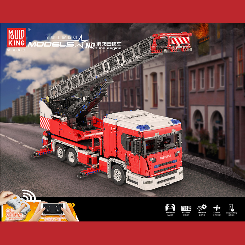 Scania L fire engine with turntable ladder full RC