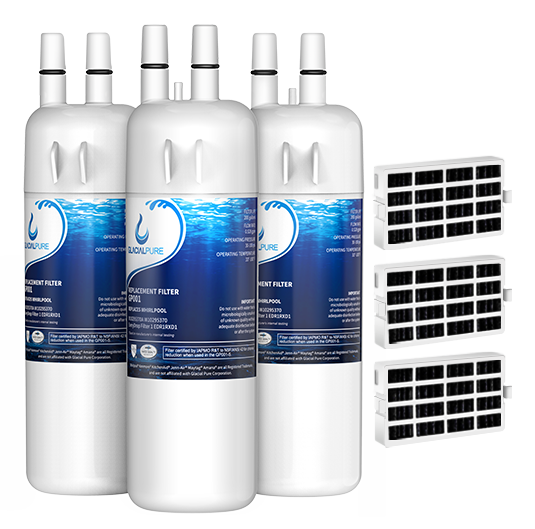 GlacialPure 3Pack Filter 1, EDR1RXD1, W10295370A with Air filter
