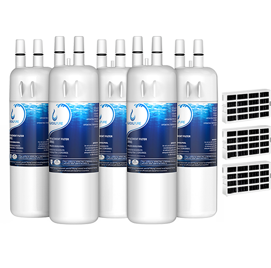GlacialPure 5Pack Filter 1, EDR1RXD1, W10295370A with Air filter
