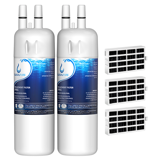GlacialPure 2Pack Filter 1, EDR1RXD1, W10295370A with Air filter