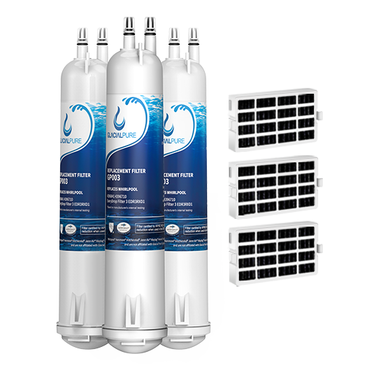 GlacialPure 3Pack Filter 3, 4396841, EDR3RXD1, 46-9083 with Air1 filter