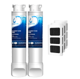 2Pack EPTWFU01 Water Filter with Air Filter Refrigerator by GlacialPure