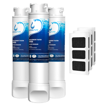 3Pack EPTWFU01 Water Filter with Air Filter Refrigerator by GlacialPure