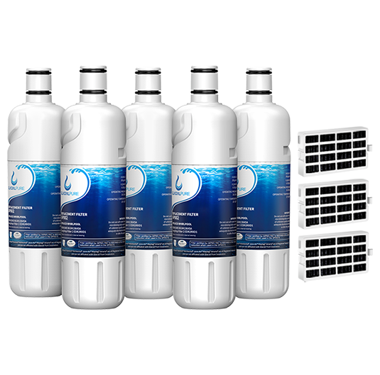 GlacialPure w10413645a, Edr2rxd1 Water Filter, Filter 2 with Air Filter (5 Pack)