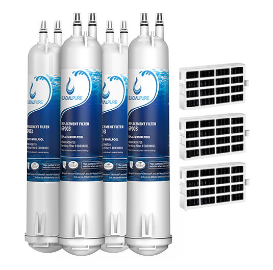 GlacialPure 4Pk Filter 3, 4396841, EDR3RXD1, 46-9083 with Air1 filter