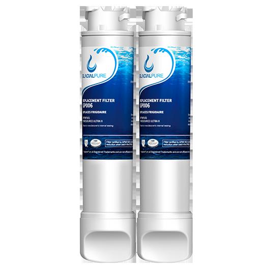 2pk Frigidaire EPTWFU01 Refrigerator Water Filter By GlacialPure