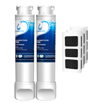 Frigidaire EPTWFU01 Water Filter with Air Filter Frigidaire Refrigerator by GlacialPure 2Pack
