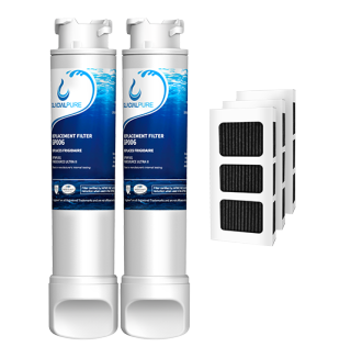 Frigidaire EPTWFU01 EWF02 Water Filter Combo With PAULTRA Air Filter by GlacialPure 2pk