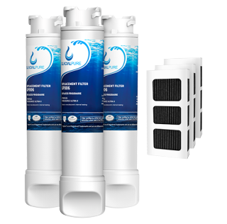 Frigidaire EPTWFU01 EWF02 Water Filter Combo With PAULTRA Air Filter by GlacialPure 3pk