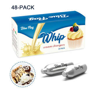 BLUE FLAG Whipped Cream Chargers N2O Nitrous Oxide 8-Gram Cartridge for Whipper Whipped Cream Dispenser