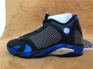 Authentic Supreme x Air Jordan 14 Black Blue