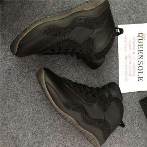 Authentic air jordan 10 OVO black