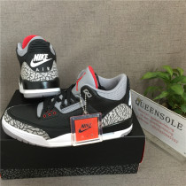 "Authentic Air Jordan 3'88 Retro ""Black Cement"""