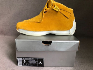 "Authentic Air Jordan 18 ""Yellow Suede"""