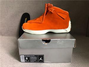 """Authentic Air Jordan 18 """"Orange Suede"""""""