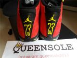 Authentic Air Jordan 14 red seude