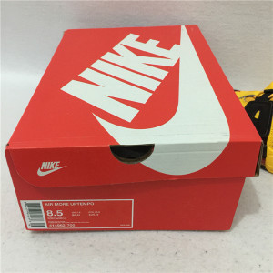 Authentic Nike Air More Uptempo yellow and black