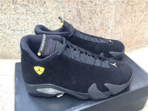 "Authentic Air Jordan 14 ""Black Suede Ferrari"""