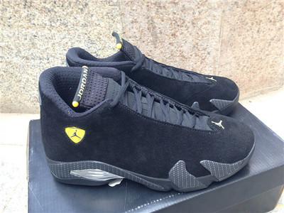 """Authentic Air Jordan 14 """"Black Suede Ferrari"""""""