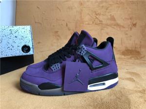 Authentic Air Jordan 4  purple