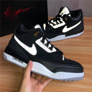"Authentic Air Jordan 3 Tinker ""Black Cement"""