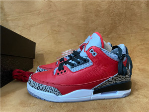 "Authentic Air Jordan 3 ""Red Cement"""