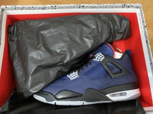 Authentic Air Jordan 4   Loyal blue