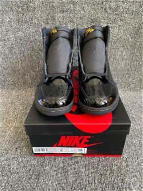 "Authentic Air Jordan 1 High ""Black Metallic Gold"""